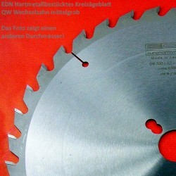 EDN Hartmetallbestücktes Kreissägeblatt QW Wechselzahn mittelgrob – Ø 500 mm, Bohrung 30 mm