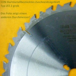 EDN Hartmetallbestücktes Zuschneidsägeblatt Typ LFZ 2 grob – Ø 200 mm, Bohrung 30 mm