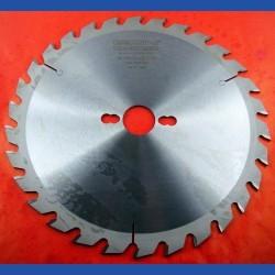 EDN Hartmetallbestücktes Kreissägeblatt QW Wechselzahn mittelgrob – Ø 250 mm, Bohrung 30 mm