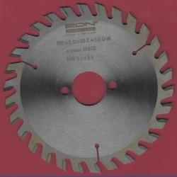 EDN Hartmetallbestücktes Kreissägeblatt GW Wechselzahn fein – Ø 150 mm, Bohrung 30 mm