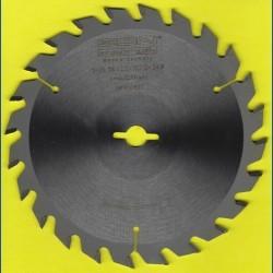 EDN Hartmetallbestücktes Kreissägeblatt Serie 05 gelb Wechselzahn mittel – Ø 156 mm, Bohrung 12,7 mm (1/2'')