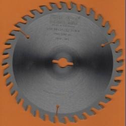 EDN Hartmetallbestücktes Kreissägeblatt Serie 05 orange Wechselzahn fein – Ø 156 mm, Bohrung 12,7 mm (1/2'')