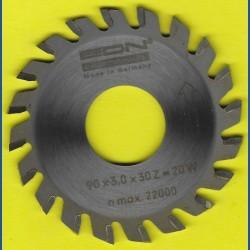 EDN Hartmetallbestücktes Kreissägeblatt Serie 05 gelb Wechselzahn mittel – Ø 90 mm, Bohrung 30 mm