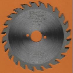 EDN Hartmetallbestücktes Kreissägeblatt Serie 05 orange Wechselzahn fein extra dünn für Akkusägen – Ø 120 mm, Bohrung 20 mm