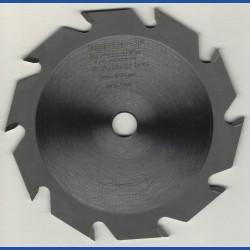 EDN Hartmetallbestücktes Kreissägeblatt Serie 05 weiß Flachzahn grob – Ø 125 mm, Bohrung 12,7 mm (1/2'')