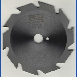EDN Hartmetallbestücktes Kreissägeblatt Serie 05 weiß Flachzahn grob – Ø 130 mm, Bohrung 16 mm