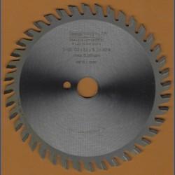 EDN Hartmetallbestücktes Kreissägeblatt Serie 05 gold Wechselzahn extra fein – Ø 130 mm, Bohrung 16 mm
