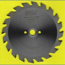EDN Hartmetallbestücktes Kreissägeblatt Serie 05 gelb Wechselzahn mittel – Ø 140 mm, Bohrung 12,7 mm (1/2'')