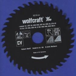 wolfcraft Serie rot Handkreissägeblatt CV mit Antihaft-Beschichtung grob – Ø 160 mm, Bohrung 25 mm