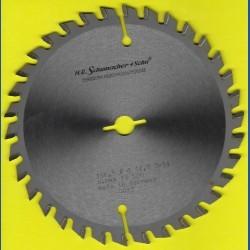 H.O. Schumacher+Sohn Hartmetallbestücktes Kreissägeblatt Standard Feinzahn – Ø 156,5 mm, Bohrung 12,7 mm (1/2'')