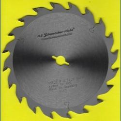 H.O. Schumacher+Sohn Hartmetallbestücktes Kreissägeblatt Standard Mittelzahn – Ø 156,5 mm, Bohrung 12,7 mm (1/2'')