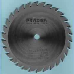 PRÄZISA Jännsch Hartmetall-Kreissägeblatt Type W Wechselzahn mittel – Ø 156 mm, Bohrung 12,7 mm (1/2'')