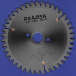 PRÄZISA Jännsch Hartmetall-Mehrzweck-Kreissägeblatt COMET, Type TF Trapez-Flachzahn negativ – Ø 150 mm, Bohrung 30 / 20 mm