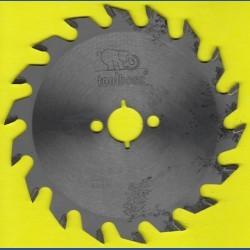 toolboss Hartmetallbestücktes Kreissägeblatt Standard Mittelzahn – Ø 140 mm, Bohrung 20 mm