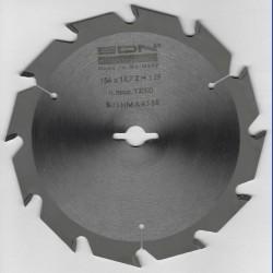 EDN Hartmetallbestücktes Kreissägeblatt Serie 05 weiß Flachzahn grob – Ø 156 mm, Bohrung 12,7 mm (1/2'')