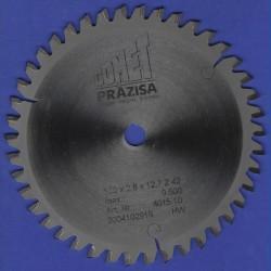PRÄZISA Jännsch Hartmetall-Mehrzweck-Kreissägeblatt COMET, Type TF Trapez-Flachzahn negativ – Ø 156 mm, Bohrung 12,7 mm (1/2'')
