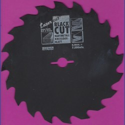 WAGNER Black Cut CV Kreissägeblatt Wolfszahn grob mit Antihaftbeschichtung – Ø 156 mm, Bohrung 12,75 mm (1/2'')