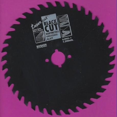 WAGNER Black Cut CV Kreissägeblatt Wolfszahn mittel mit Antihaftbeschichtung – Ø 160 mm, Bohrung 20 mm