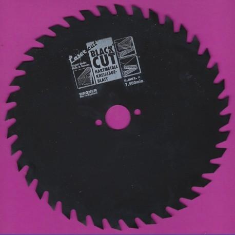 WAGNER Black Cut CV Kreissägeblatt Wolfszahn grob mit Antihaftbeschichtung – Ø 180 mm, Bohrung 20 mm