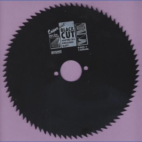 WAGNER Black Cut CV Kreissägeblatt Spitzzahn sehr fein mit Antihaftbeschichtung – Ø 190 mm, Bohrung 30 mm