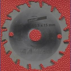 wolfcraft Handkreissägeblatt HM Universal für Akkukreissäge Ryobi CS120L – Ø 85,7 mm, Bohrung 15 mm