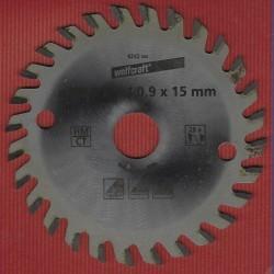 wolfcraft Handkreissägeblatt HM Viel-Wechselzahn – Ø 85,7 mm, Bohrung 15 mm