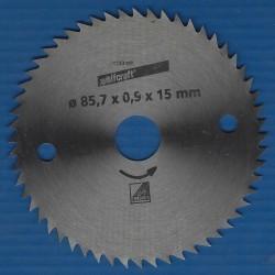wolfcraft Serie blau Handkreissägeblatt CV mit Antihaft-Beschichtung extra fein – Ø 127 mm (5''), Bohrung 12,75 mm (1/2'')