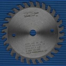 blueline by AKE Handkreissägeblatt HW Wechselzahn sehr fein – Ø 125 mm, Bohrung 12,7 mm (1/2'')