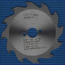 blueline by AKE Handkreissägeblatt HW Wechselzahn grob – Ø 125 mm, Bohrung 20 mm