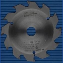 blueline by AKE Handkreissägeblatt HW Wechselzahn grob – Ø 132 mm, Bohrung 20 mm