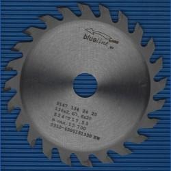 blueline by AKE Handkreissägeblatt HW Wechselzahn fein – Ø 134 mm, Bohrung 20 mm