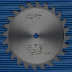 blueline by AKE Handkreissägeblatt HW Wechselzahn fein extra dünn für Akkusägen von Makita – Ø 136 mm, Bohrung 10 mm