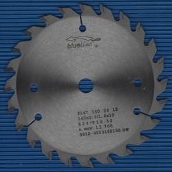 blueline by AKE Handkreissägeblatt HW Wechselzahn mittel – Ø 140 mm, Bohrung 12,7 mm (1/2'')