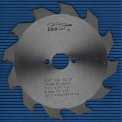 blueline by AKE Handkreissägeblatt HW Wechselzahn grob – Ø 140 mm, Bohrung 20 mm