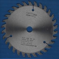 blueline by AKE Handkreissägeblatt HW Wechselzahn fein – Ø 150 mm, Bohrung 16 mm