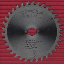 blueline by AKE Holzwerkstoffkreissägeblatt Hohlzahn positiv fein – Ø 160 mm, Bohrung 20 mm