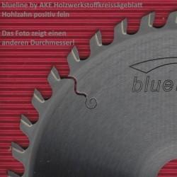 blueline by AKE Holzwerkstoffkreissägeblatt Hohlzahn positiv fein – Ø 200 mm, Bohrung 30 mm