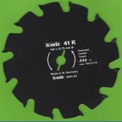 kwb Bauholzblatt Typ K Hartmetall Grobzahn antihaftbeschichtet – Ø 156 mm, Bohrung 12,75 mm (1/2'')