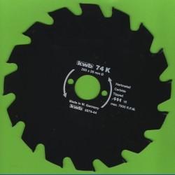 kwb Bauholzblatt Typ K Hartmetall Grobzahn antihaftbeschichtet – Ø 200 mm, Bohrung 30 mm