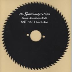 H.O. Schumacher+Sohn Kreissägeblatt Chrom-Vanadium B Feinzahn antihaftbeschichtet – Ø 180 mm, Bohrung 30 mm