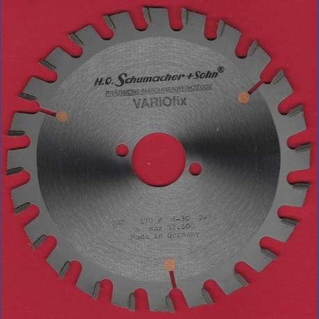 H.O. Schumacher+Sohn Hartmetallbestücktes Kreissägeblatt VARIOfix – Ø 170 mm, Bohrung 30 mm