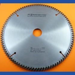H.O. Schumacher+Sohn Hartmetallbestücktes Präzisions-Kreissägeblatt Typ XW Superfeinstzahn extra dünn – Ø 250 mm, Bohrung 30 mm