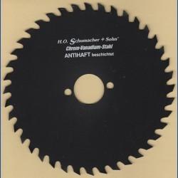 H.O. Schumacher+Sohn Kreissägeblatt Chrom-Vanadium A Grobzahn antihaftbeschichtet – Ø 170 mm, Bohrung 30 mm