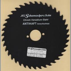 H.O. Schumacher+Sohn Kreissägeblatt Chrom-Vanadium A Grobzahn antihaftbeschichtet – Ø 180 mm, Bohrung 30 mm