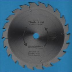 kwb Spanplattenblatt Typ M Hartmetall Normalzahn antihaftbeschichtet – Ø 184 mm, Bohrung 16 mm