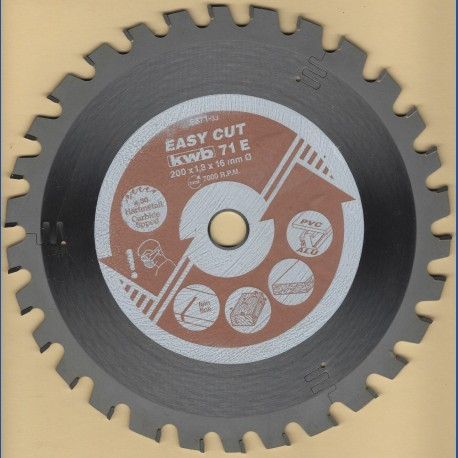 kwb EASY CUT Allzweckblatt Typ E Low Noise– Ø 200 mm, Bohrung 16 mm