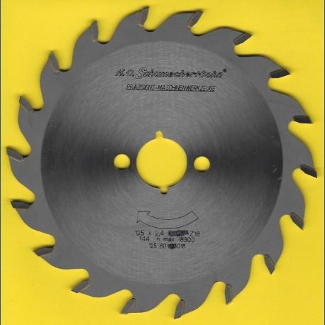 H.O. Schumacher+Sohn Hartmetallbestücktes Kreissägeblatt Standard Mittelzahn – Ø 125 mm, Bohrung 20 mm