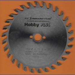H.O. Schumacher+Sohn Hartmetallbestücktes Kreissägeblatt Hobby PLUS – Ø 132 mm, Bohrung 13 mm