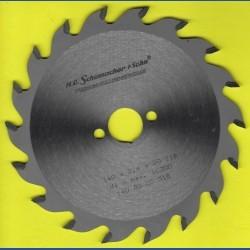 H.O. Schumacher+Sohn Hartmetallbestücktes Kreissägeblatt Standard Mittelzahn – Ø 140 mm, Bohrung 20 mm