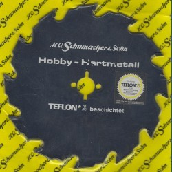H.O. Schumacher+Sohn Hartmetallbestücktes Kreissägeblatt Hobby Grobzahn antihaftbeschichtet – Ø 150 mm, Bohrung 16 mm